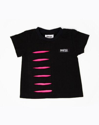 T-shirt rock avec lacérations