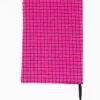 protège carnet de santé rose à patchs cousu main