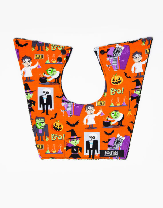 Bavoir bébé Halloween cousu main