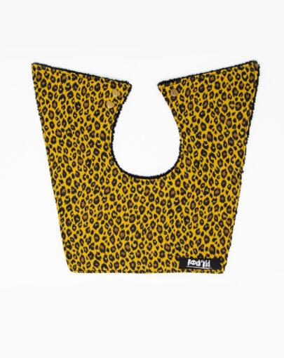 Bavoir bébé léopard cousu main