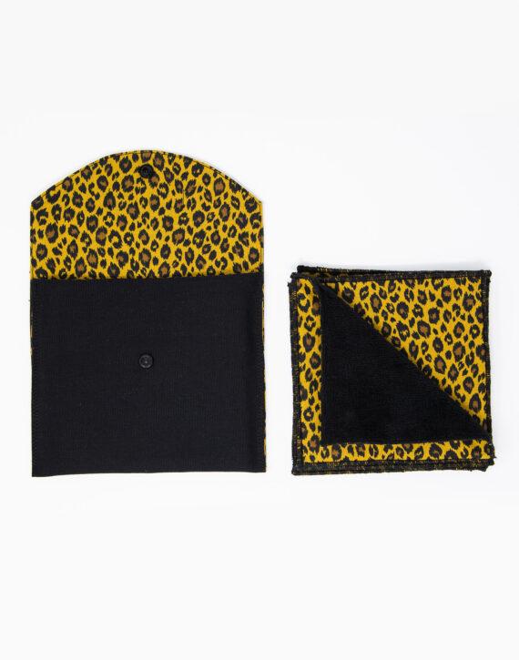 Lingettes de toilette lavables leopard