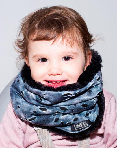 Tour de cou snood fourrure 18 mois à 8 ans