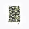 Protège carnet de santé cousu main imprimé army avec patchs