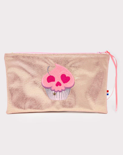 Trousse girly cupcake skull neon
