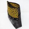 Trousse léopard brodée cousue main