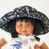 Chapeau bob reversible bébé cousu main en France
